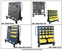 LOUVERED PANEL & PEGBOARD A-FRAME TRUCKS